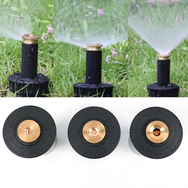 "1PC 90 360 Degree Pop up Sprinklers Plastic Lawn Watering Sprinkler Head Adjustable Garden Spray Nozzle 1/2"" Female Thread"
