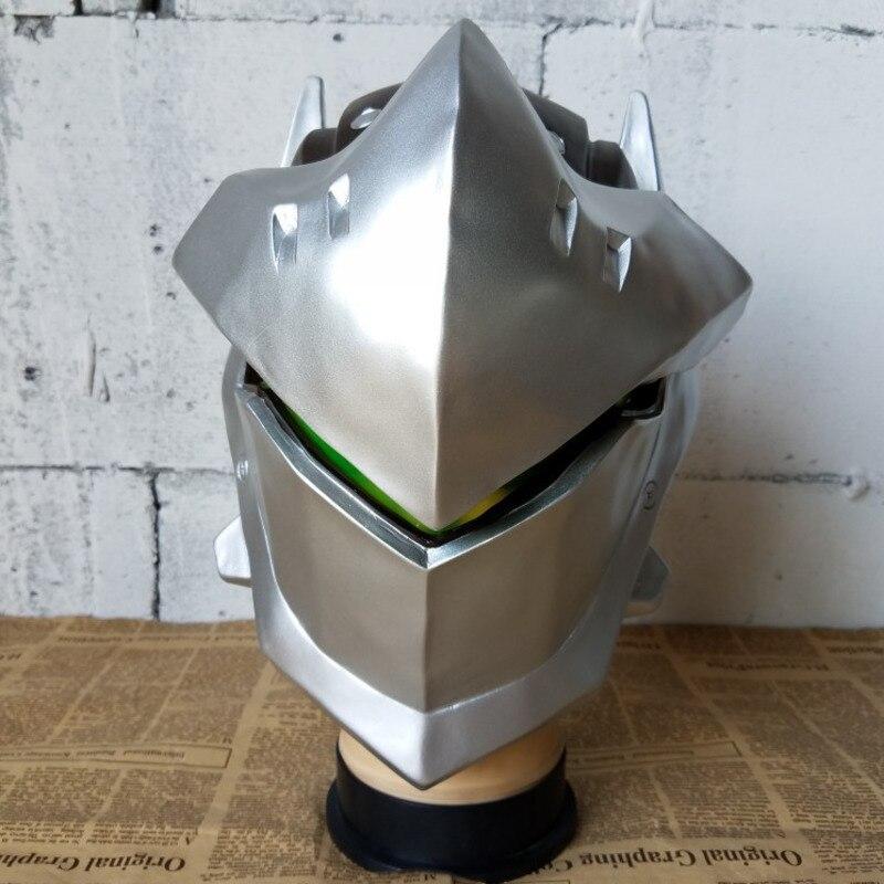 Handmade Overwatch Helmet Genji Helmet Skull Cosplay Mask Prop Halloween Gift