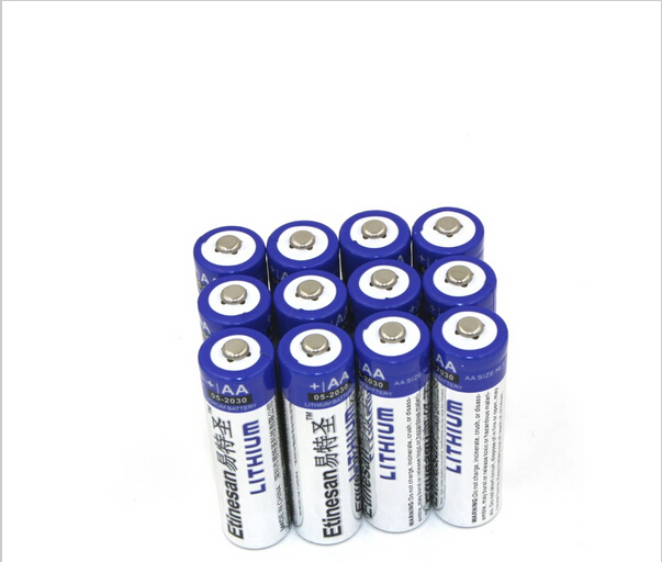 12pcs lot Etinesan SUPER Lithium 1 5V AA Primary Batteries li ion batery Cheap price This