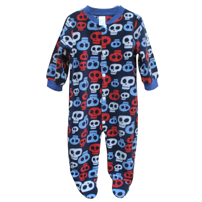 Branded Baby Rompers Pajamas Newborn Baby Clothes Cartoon Infant Fleece Long Sleeve Jumpsuits Boy Girl Warm Winter Clothes Wear 2015 autumn winter hot sale coral fleece baby boots baby shoes branded newborn infant shoes for babies soft shoes girl hk492
