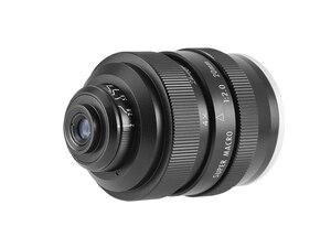 Image 4 - Mitakon Zhongyi 20mm f/2 4.5X סופר מאקרו עדשה עבור Canon EF EOS M ניקון F Sony E pentax K M4/3 Fujifilm X Sony Minolta הר