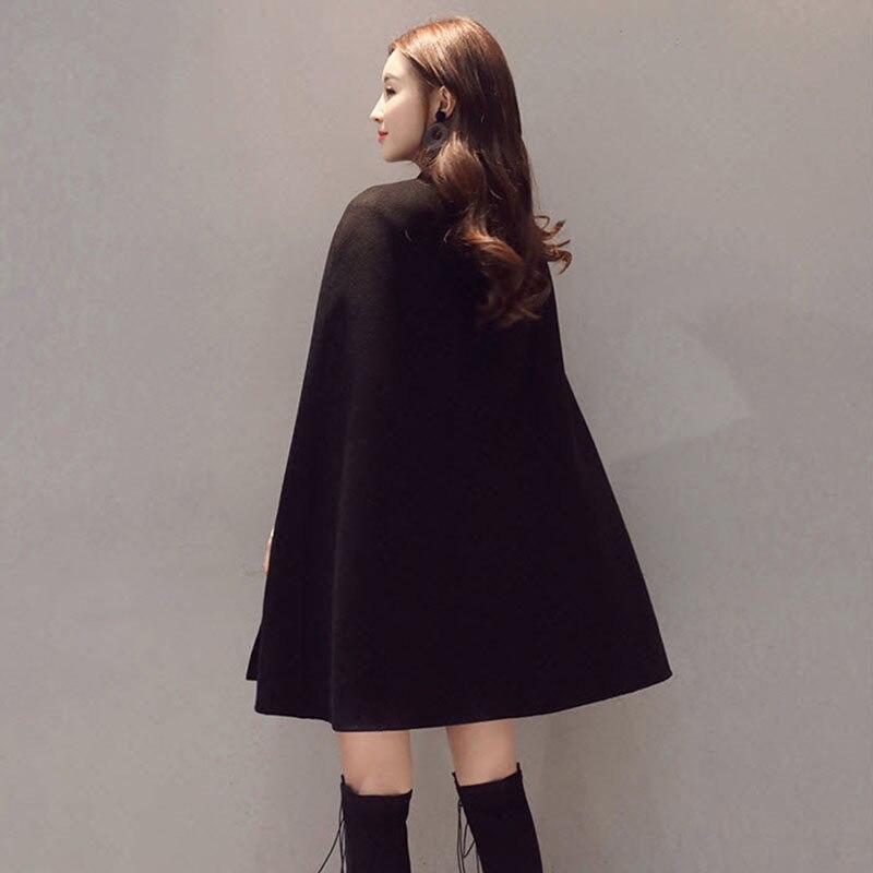 Осень Зима Женское шерстяное пальто новая мода Половина Водолазка однобортная Женская куртка плащ Свободное пальто LQ278