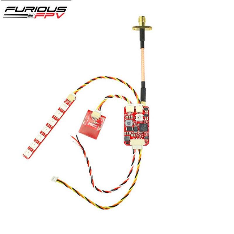 FuriousFPV Combo Furtif Longue Portée FPV VTX 700 mW avec LED bande et Bluetooth Module pour RC Drone Racing Quadcopter FPV pièces