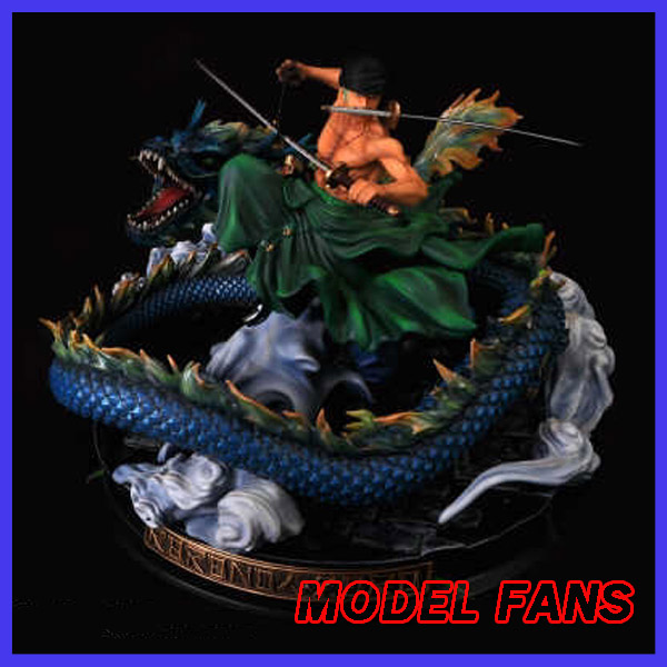 MODEL FANS IN-STOCK one piece 37cm Roronoa Zoro fight A version GK resin statue figure toy for collection one piece action figure roronoa zoro led light figuarts zero model toy 200mm pvc toy one piece anime zoro figurine diorama