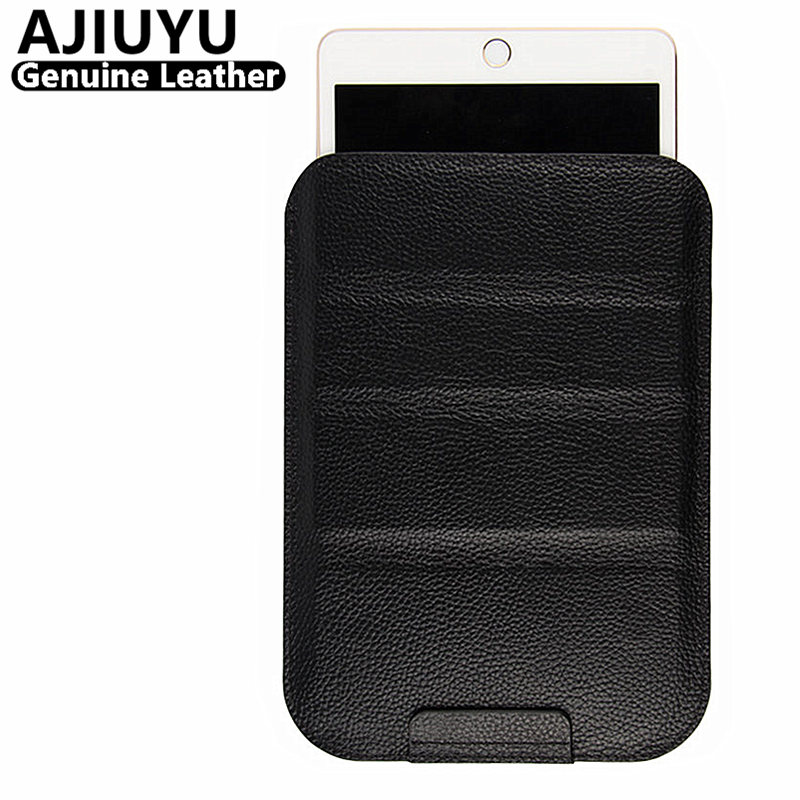 AJIUYU Genuine Leather Case For iPad Pro 12.9 inch Case Protective Smart Cover Tablet For 2015 Pro12.9 Protector Sleeve Cowhide icarer brand new for ipad pro 9 7 inch case sleeve grey protective carrying bag pouch for ipad pro 9 7 inch case cover fundas