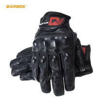 Thermal Windproof Mens Motorcycle Gloves Genuine Leather Touch Screen Non-Slip Roller Guantes Motocross Off Road Riding