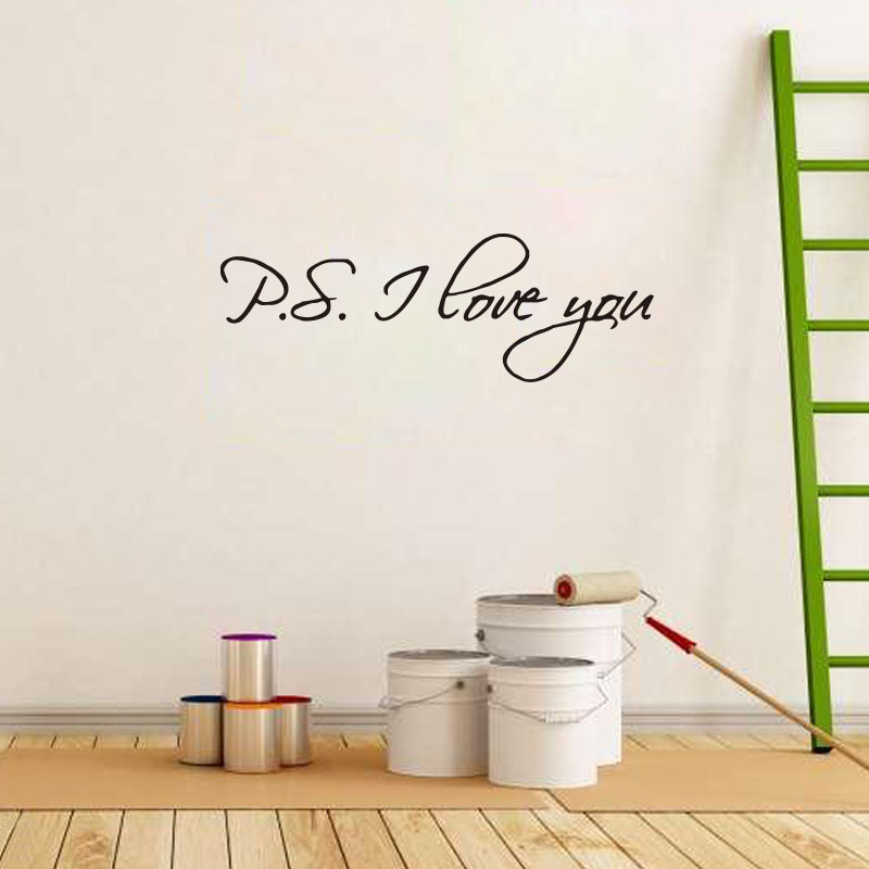 P.S. i love you loving quotes wall decals