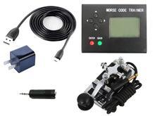 Morse code trainer power generation kurze welle radio CW automatische schlüssel lernen radio station host + power + K4 schlüssel + kabel