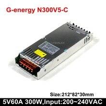 G energy N300V5 C سليم 5 فولت 60A 300 واط LED عرض امدادات الطاقة ، حجم 212*83*30 مللي متر شاشة فيديو التبديل