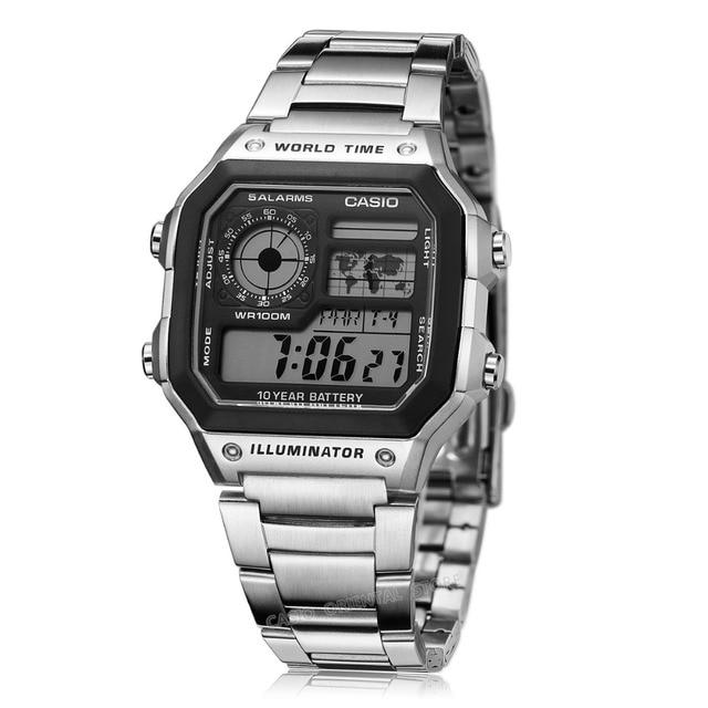 c1c8489af2b Casio Relógio Digital Relogio Moda Dos Homens Do Esporte Grande Mostrador  do Relógio Digital de Relógios