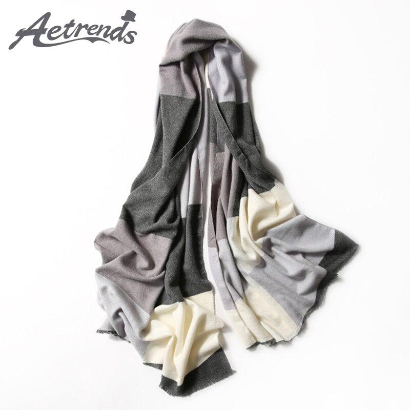 [AETRENDS] Новинка 2017 года зимние шарфы Для женщин Классический плед кашемир чувствовать себя шарф 70x180 см теплые шарфы Z-6061