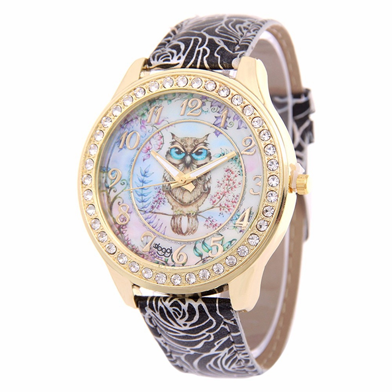 New Arrive Women Watch Fashion Montre Womens Crystal Diamond Watches Analog Leather Quartz Wrist Watch Female Dress Relogio s28