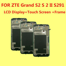 FOR ZTE Grand S2 S 2 II S251 S291 S252 S221 LCD Display+Touch Screen +Frame Original Digitizer Assembly Replacement Accessories