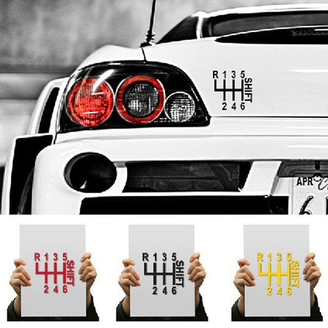 Divertente cartone animato d full body car window sticker shift