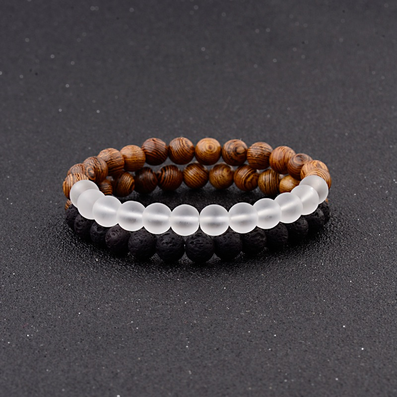 8mm New Natural Wood Beads Bracelets Men Black Ethinc Meditation White Bracelet Women Prayer Jewelry Yoga Bracelet Homme HTB104i0Fv1TBuNjy0Fjq6yjyXXaV