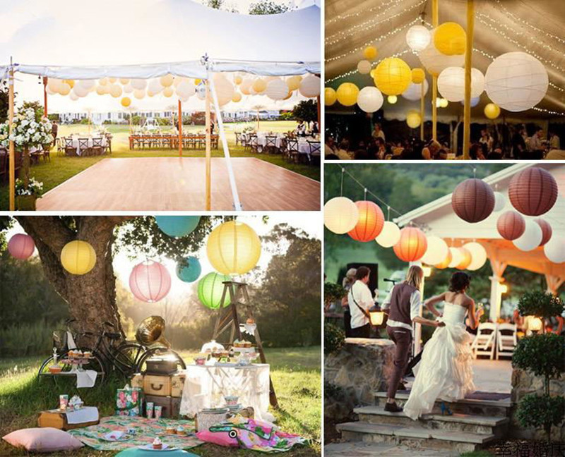 Free Shipping 10pcs 20cm8 Chinese Round Paper Lantern Wedding