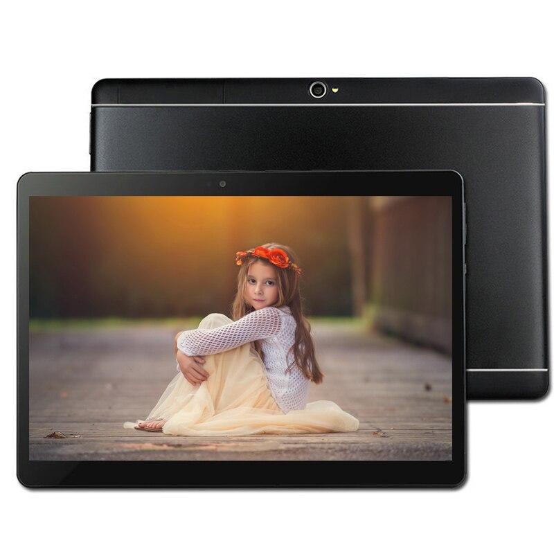 Livraison Gratuite 10.1 pouce 3g/4g LTE Téléphone tablet PC Android 8.0 Octa Core RAM 4 gb ROM 32 gb 64 gb 1920*1200 IPS comprimés pc MT6753