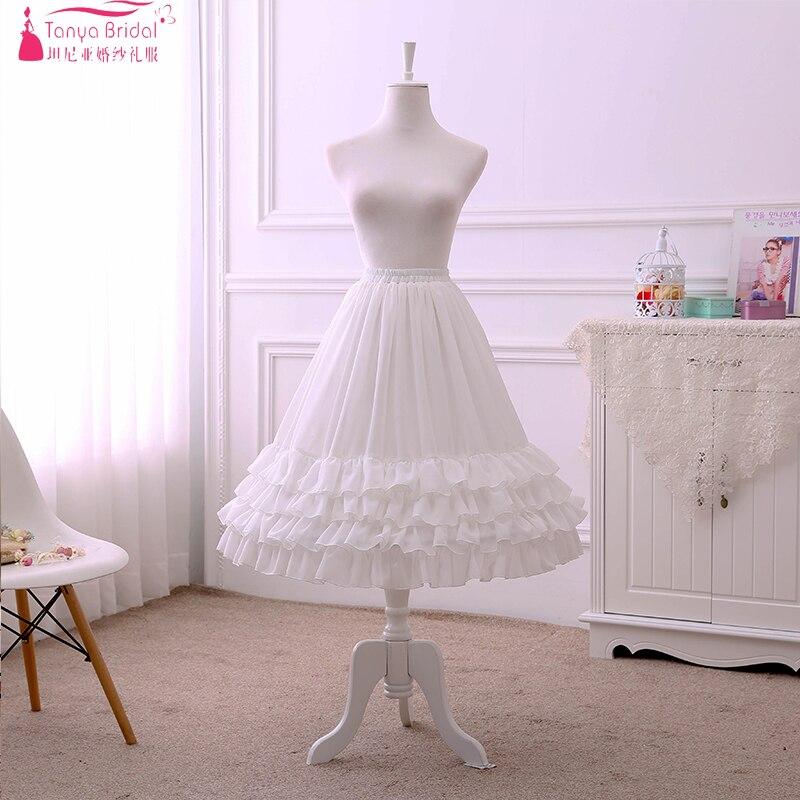 Short Petticoat Lolita Skirts Underwear Ruffles Wedding Formal Dress Petticoats Accessories ZQ004