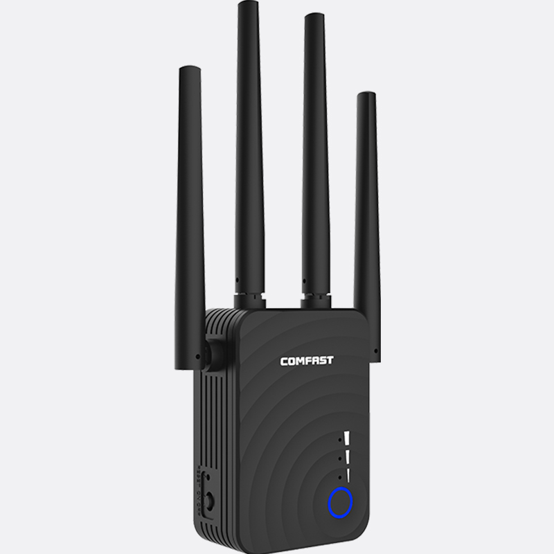 AC1200 Wireless WIFI Repeater Dual Band 1200Mbps 4 External Antenna Wi-Fi Range Extender wifi signal amplifier booster router