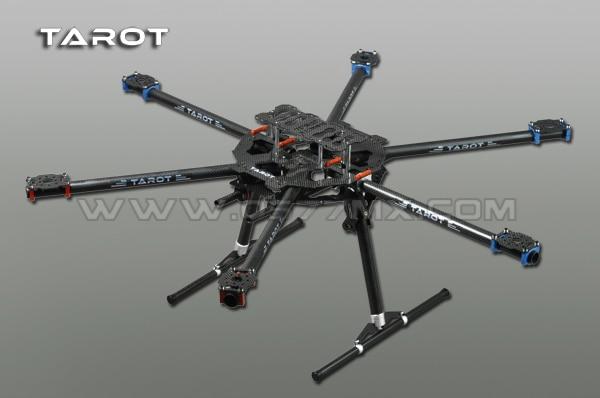 Tarot FY680 Carbone Pur 6-axis Plein Pliant Hexacopter Aéronefs Cadre Rack FPV Photographie Aérienne TL68B01