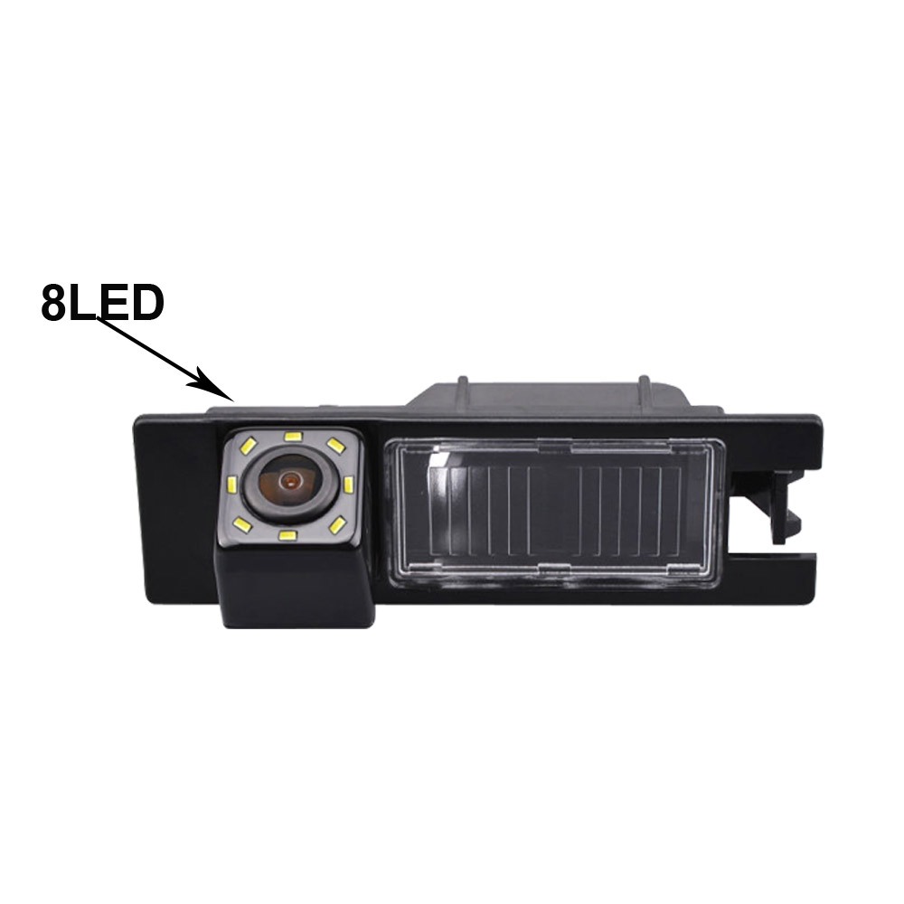 For holden Opel Astra H Zafira B Corsa D Vectra Haydo Fiat Grande Punto Hideo Regal Car back reverse parking Camera 8 LED light