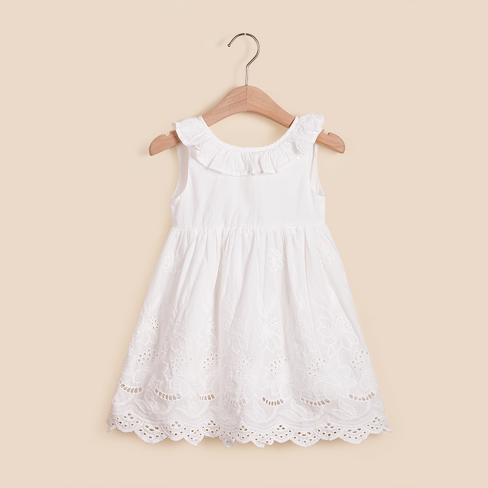 IMMDOS Girls Summer Dresses Kids Cotton Dress for Girl Baby Cute Clothes Girls Flower Princess Dress 2018 Fashion Bow Vestidos