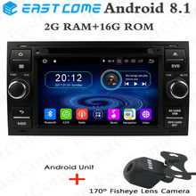 HD 1024 Android 8.1 Car GPS Navigation for Ford Mondeo Connect Kuga Focus 2 S C MAX,steering wheel ,4G,WJFI Car Radio Player steering wheel cover for ford mondeo mk4 2007 2012 s max 2008 ford focus 3 2015 2018 kuga 2016 2018 custom made steering braid