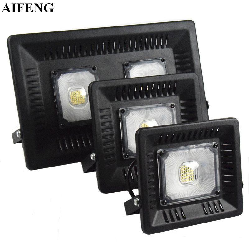 AIFENG Led Flood Light 30W 50W 100W 220V 230V 240V Waterproof IP65 Projector Floodlight Led Lighting Outdoor Wall Lamp Spotlight [mingben] led flood light projector ip65 waterproof 30w 50w 100w ac 220v 230v 110v led floodlight spotlight outdoor wall lamp