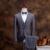 2017 New Arrivals Clássico Retro Inglaterra Estilo Plaid Men Suit Blazer + Colete + Calça, Homens Moda Elegante Vestido negócio Estilo Casual