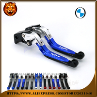For BMW HP2 SPORT HP2SPORT HP 2008 2011 LOGO BLUE Motorcycle Adjustable Folding Extendable Brake Clutch Lever with logo CNC