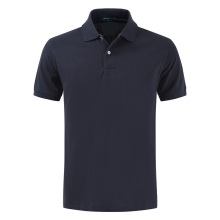 High quality summer new style mens pure color short-sleeved Contton Polo lovers leisure elastic cotton