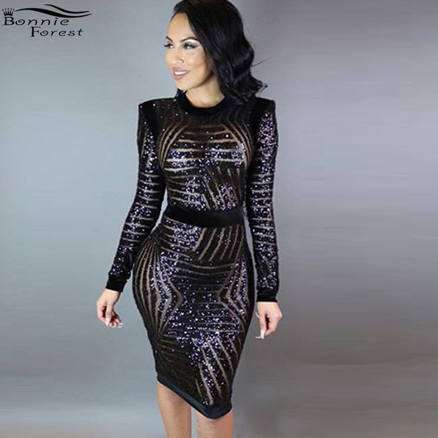 Black Mesh Dress with Sleeves