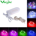 2M 20LEDs CR2032 Button Battery Operated Mini Micro LED Lights String For Wedding Party Event decorations Silver Copper Wire