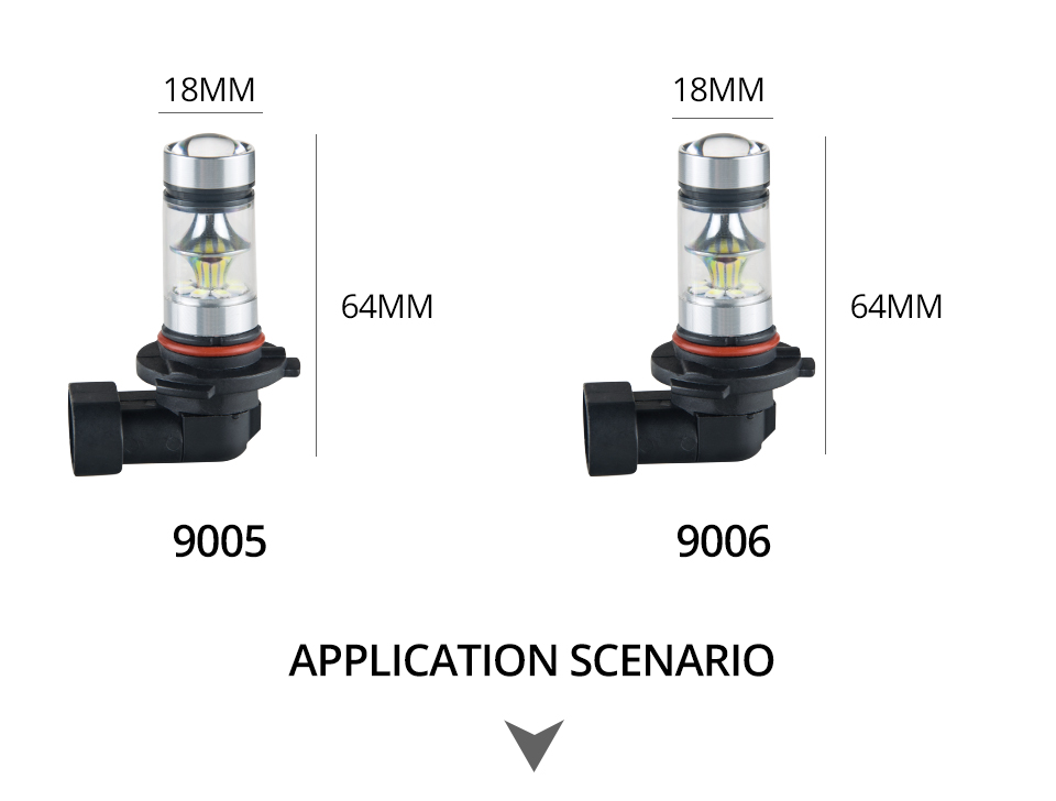Aceersun Led H8 H11 H10 Fog light bulb 9006 HB3 9005 ATV H1 H3 1200LM 6500K 12V 24V Car Driving Daytime Running Lamp motorcycle (11)
