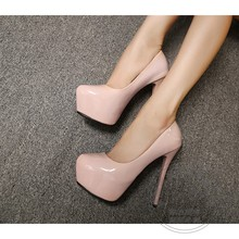 Fashion Club Round Toe Fetish High Kitten Heels New Autumn Women Less Platform Pumps 2016 Sexy Single Shoes Euro Style