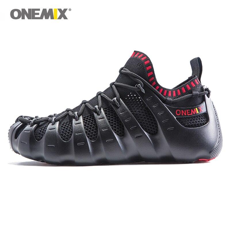 ONEMIX Casual Sneakers zapatos multiusos para Hombre Zapatos Deportivos Unisex zapatillas para correr al aire libre calcetines de Yoga zapatos deportivos