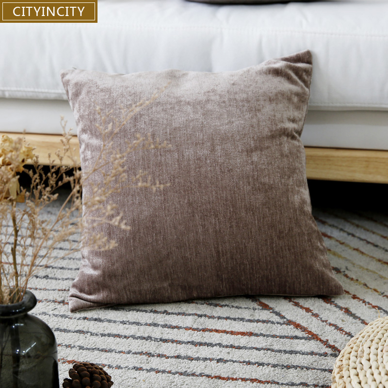 Home & Garden Liberal Cityincity Chenille Solid Cushion Cover Soft Pillow Case Modern Decorative Pillow Cover For Sofa Bed Car Seat 45x45 50x50 Table & Sofa Linens