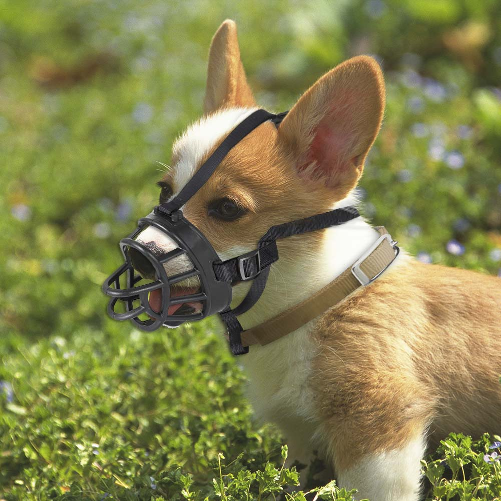 Soft Silicone Strong Dog Muzzle Anti-biting Adjusting Straps Mask Goods For Pets Comfortable Muzzles For Dogs Free Shipping