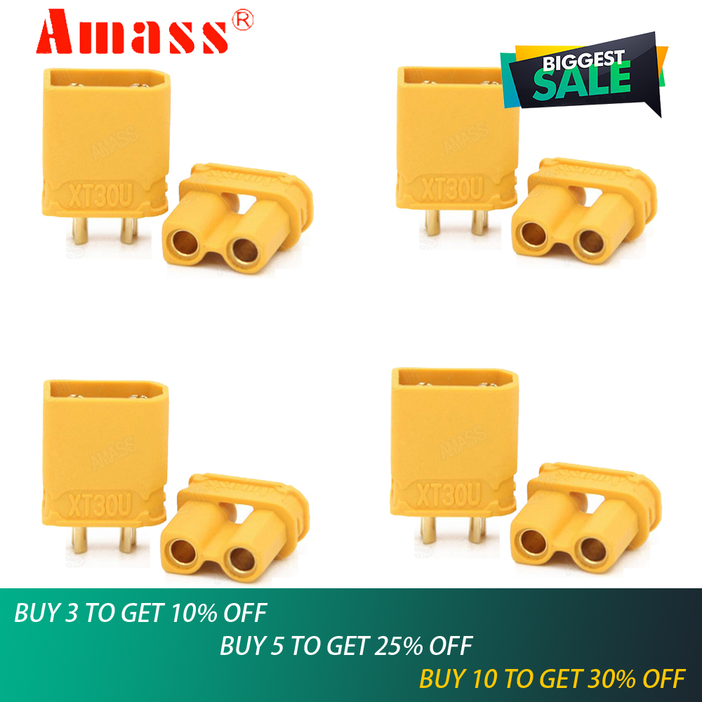 5pair/lot Amass XT30U Male Female Bullet Connector Plug the Upgrade XT30 For RC FPV Lipo Battery RC Quadcopter5pair/lot Amass XT30U Male Female Bullet Connector Plug the Upgrade XT30 For RC FPV Lipo Battery RC Quadcopter