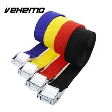 Vehemo 2.5M Car Auto Boat Fixed Strap Luggage Belt Retractor With Alloy Buckle