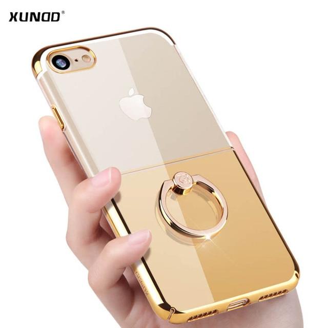 coque iphone 7 transparent avec anneau