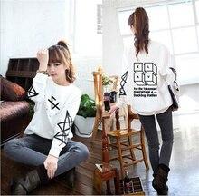 F (x) Support New Album KPOP kpop 4 wall Krystal Amber FX Hoodies Long Sleeve Shirt For Women Unisex Hooded Hoodies BTS