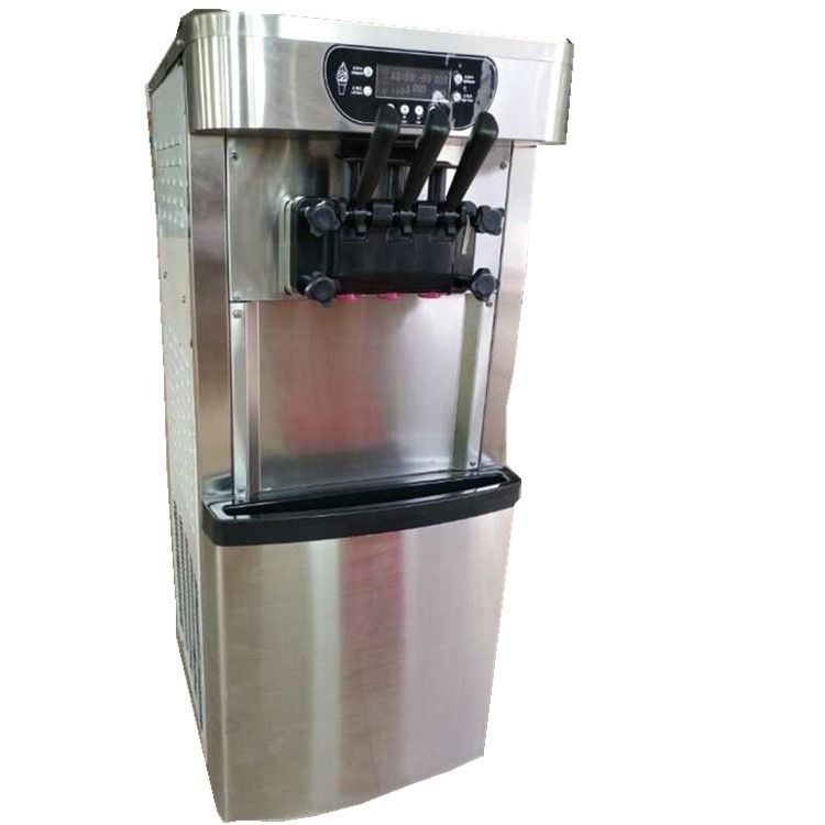 Sistema de refrigeración Dual de alta calidad Mute 3 sabores máquina de hacer helado suave