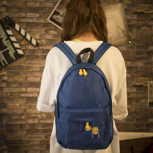 Blue Large Teenager Schoolbag Students Canvas School Backpack ...