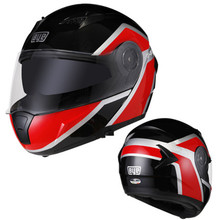 цена на high quality motorcycle helmet double lens modular flip helmet full face helmet cascos para moto men's racing capacete