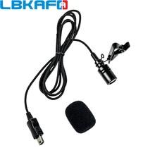 LBKAFA Protable Mini USB Microfone Cabo de Alta Qualidade De Lapela Clipe de Gravata Microfone para Gopro Hero 3 + 3 4 Camera