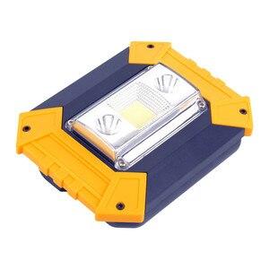 Image 3 - Led 홍수 빛 10 w worklight led cob 칩 투광 조명 스포트 라이트 야외 검색 조명 usb 충전식 경고등