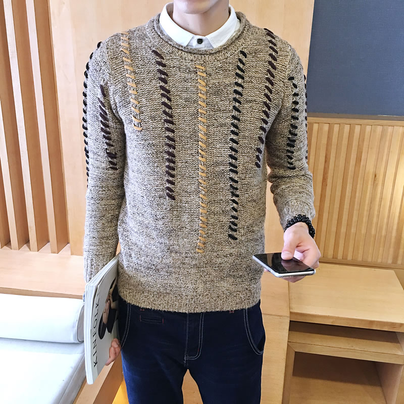 Able Afs Jeep Brand Autumn Sweater Men Striped Patchwork Color V-neck Cardigans Men M-3xl Knitted Wear Cardigan Masculino Men Sweater Cardigans