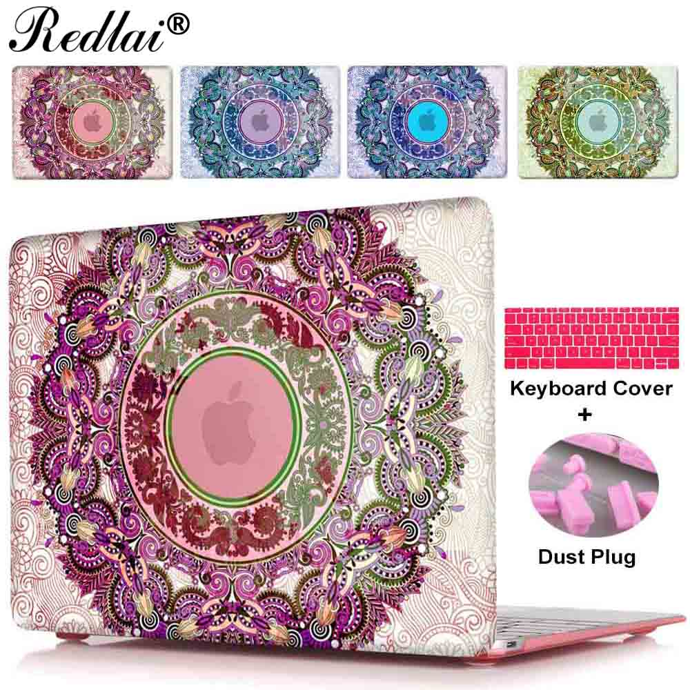 Case For Macbook New 12 inch Air 11 13 Sleeve National Ornament Print Hard Case For Mac Pro 13 15 CD-ROM Pro 13 15 Retina Cover