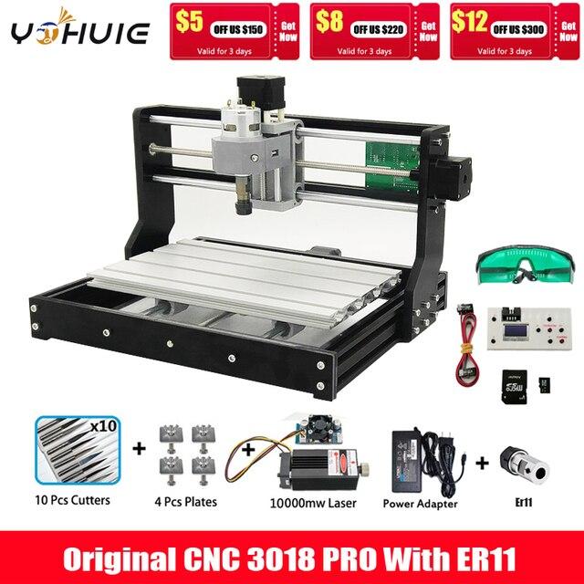 CNC 3018 Pro GRBL Diy mini cnc machine,3 Axis pcb Milling machine,Wood Router laser engraving,CNC3018 Can work offline